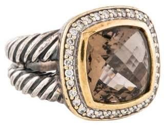 David Yurman Smoky Quartz & Diamond Albion Ring silver Smoky Quartz & Diamond Albion Ring