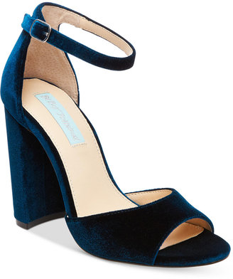 Blue by Betsey Johnson Carly Block-Heel Sandals $89 thestylecure.com