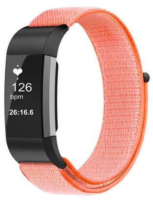 Fitbit Fintie For Charge 2 Band, Nylon Sport Loop Breathable Nylon Replacement Strap Wrist bands with Adjustable Closure Orange