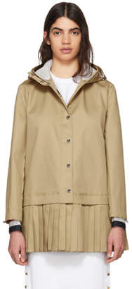 Thom Browne Khaki Hooded Drop Shoulder Jacket