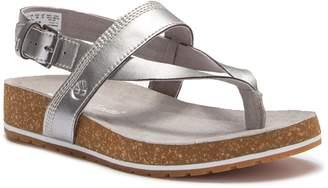 Timberland Malibu Waves Leather Thong Platform Sandal