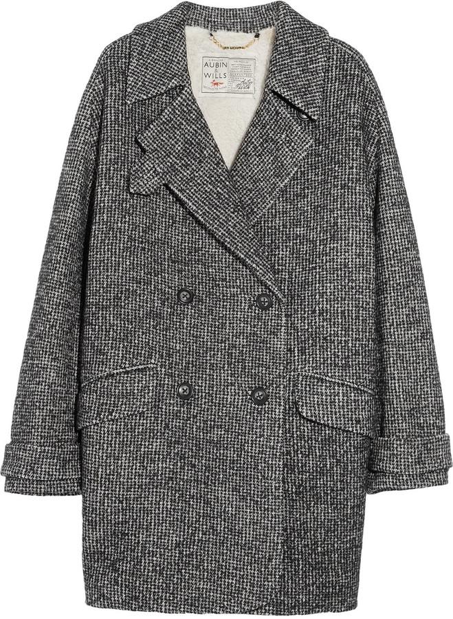 Aubin & Wills Dingleton oversized wool-blend tweed coat