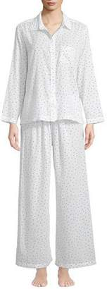 Pour Les Femmes Stars Poplin Classic Pajama Set