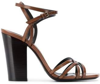 Saint Laurent oak crisscross sandals