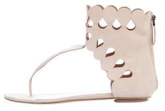 Alaia Laser Cut T-Strap Sandals