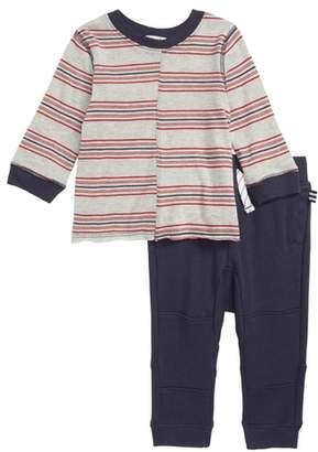 Splendid (スプレンディッド) - Splendid Stripe T-Shirt & Jogger Pants Set