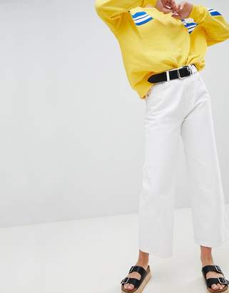 Pull&Bear mom jean in white