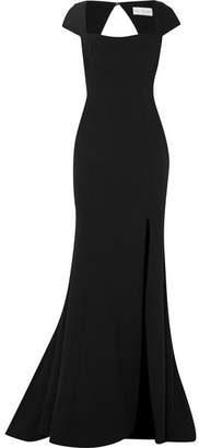 Rebecca Vallance Adriatic Open-back Crepe Gown - Black