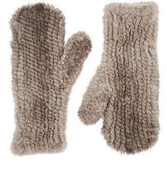 Barneys New York Women's Knitted Mink Fur Mittens
