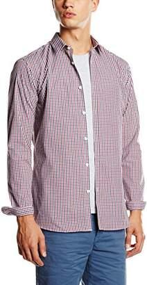 New Look Men's Smart Gingham Long Sleeve Slim Fit Formal Shirt