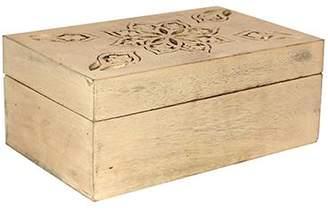 Mela Artisans Serena Jewelry Box in Distressed Ivory