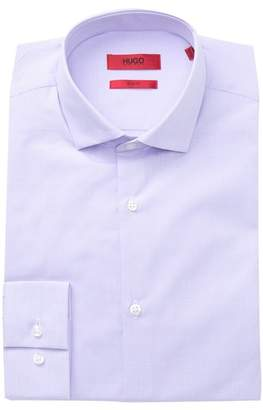 BOSS Horizontal Stripe Slim Fit Dress Shirt
