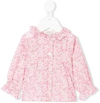 Cashmirino Ruffled floral blouse