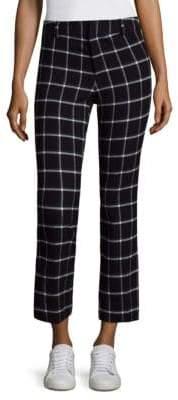 Derek Lam 10 Crosby Patterned Flare Crop Pants