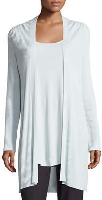 Eileen Fisher Long Sleek Tencel® Ribbed Cardigan $298 thestylecure.com