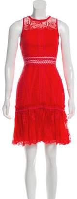 Jonathan Simkhai Lace Mini Dress Red Lace Mini Dress