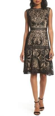 JS Collections Soutache Fit & Flare Dress