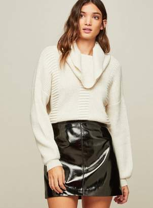 Miss Selfridge Roll neck boxy knitted jumper