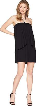 Jack by BB Dakota Junior's April Solid Dual Layer Halter Tie Dress