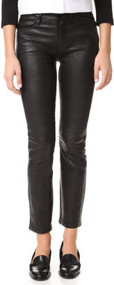 FRAME Le High Straight Leather Pants $995 thestylecure.com
