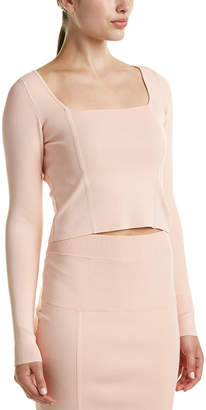 KENDALL + KYLIE Square Neck Knit Crop Top