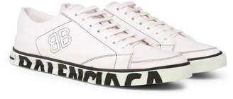 Balenciaga Match Distressed Logo-Print Canvas Sneakers