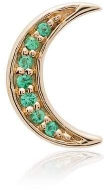 Andrea Fohrman Crescent Moon emerald earring