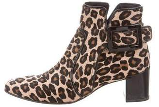 Roger Vivier Ponyhair Buckle Ankle Boots
