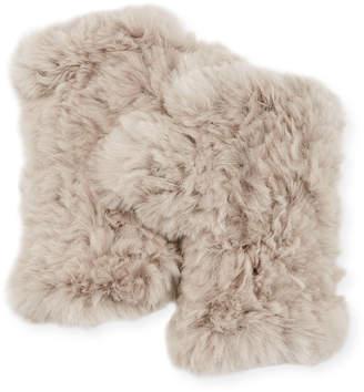 Adrienne Landau Fingerless Fur Gloves