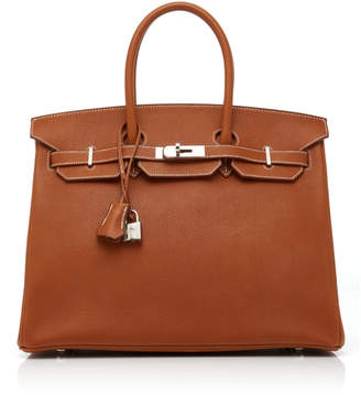 Hermes Heritage Auctions Special Collections 35cm Fauve Barenia Faubourg Leather Birkin