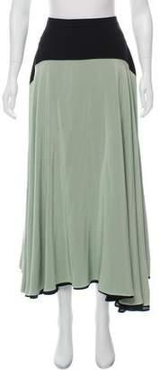 Christopher Kane Silk Midi Skirt
