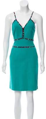 Zac Posen Heart Printed Sleeveless Dress