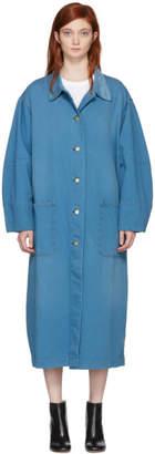 Acne Studios Bla Konst Blue Brandou Long Denim Jacket
