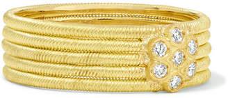 Buccellati Hawaii 18-karat Gold Diamond Ring
