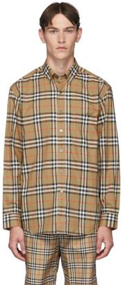Burberry Yellow Check Jameson Shirt