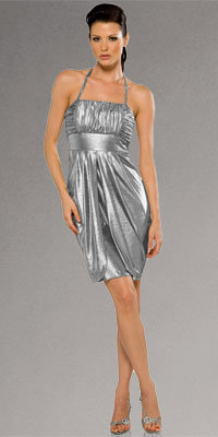 Inexpensive Metallic Cocktail Dresses from Kitty