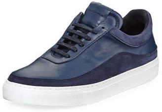 Public School Men's Braeburn Leather Low-Top Sneakers, Navy