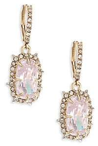 Alexis Bittar Swarovski Crystal Framed Cushion Drop Earrings