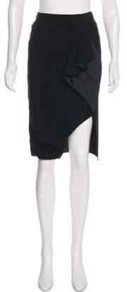 Altuzarra Ruffle-Trimmed Knee-Length Skirt