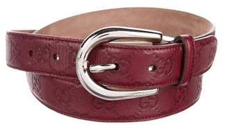 Gucci Guccissima Leather Belt