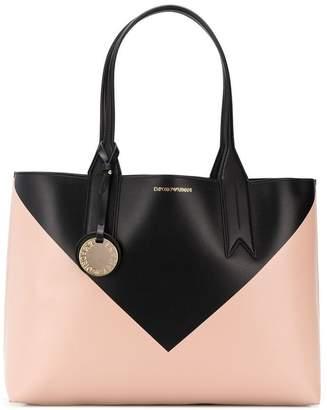 08178c0742c9 Emporio Armani colour-block shopper tote