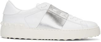 Valentino White & Silver Open Sneakers $695 thestylecure.com