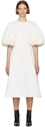 Edit White Balloon Sleeve Dress