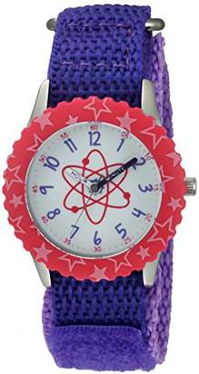EWatchFactory Girl's 'Discovery Channel' Quartz Stainless Steel and Nylon Sport Watch