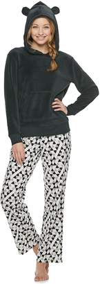 So Juniors' SO Sherpa Bear Hoodie & Pants Pajama Set