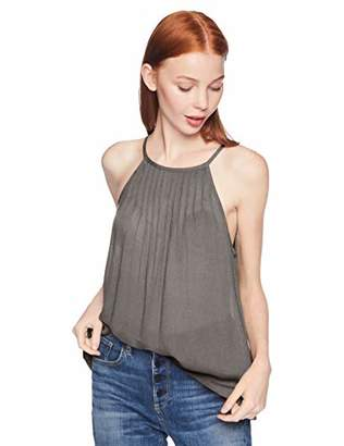 O'Neill Women's Gabby Woven Halter Top with Pin Tuck Detail