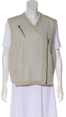 Helmut Lang Leather Zip-Up Vest