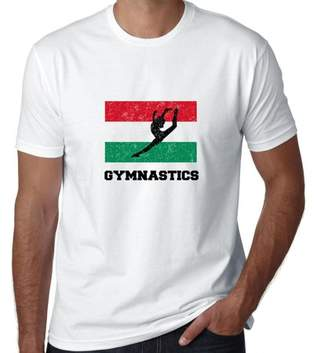 Hollywood Thread Hungary Olympic - Gymnastics - Flag - Silhouette Men's T-Shirt