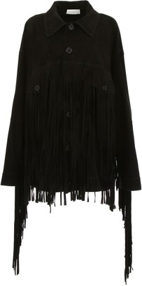 Faith Connexion Suede Jacket With Fringes
