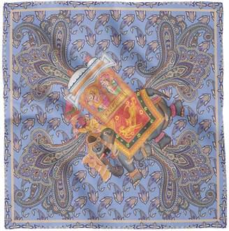 House of Gharats - Gajraj Silk Pocket Square Blue